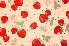 Hintergrund mit Erdbeeren Stockbild