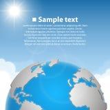 Hintergrund mit Erde Stockbilder