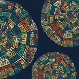 Hintergrund mit ethnischen Elementen Stockbilder