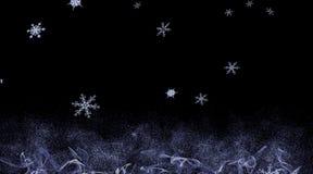 Hintergrund mit fallenden Schneeflocken Stockfotografie