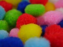 Hintergrund mit farbigen Bällen Stockfotos