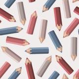 Hintergrund mit farbigen Bleistiften Stockbilder