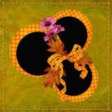 Hintergrund mit Feld und Blumen Vektor Abbildung