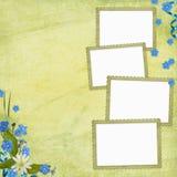 Hintergrund mit Feldern und Blumen vektor abbildung