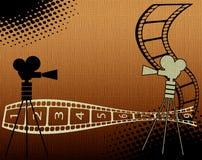 Hintergrund mit Filmstreifen Lizenzfreies Stockfoto