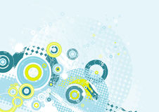 Hintergrund mit Formen, Vektor Stockbild