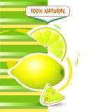 Hintergrund mit frischer Zitrone lizenzfreie abbildung