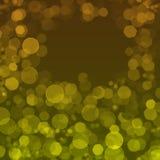 Hintergrund mit gelben Kreisen Stockbilder