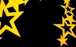 Hintergrund mit gelben Sternen Stockfotografie
