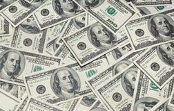 Hintergrund mit Geld hundert Stockfotografie