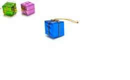Hintergrund mit Geschenkbox Stockfoto