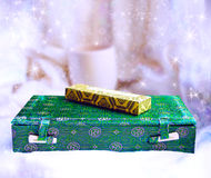 Hintergrund mit Geschenkkästen stockfotografie