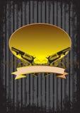 Hintergrund mit Gewehren lizenzfreie stockfotografie