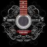 Hintergrund mit Gitarre Lizenzfreie Stockfotografie
