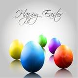Hintergrund mit glücklichen bunten Eiern Stockfoto