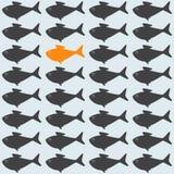 Hintergrund mit Goldfisch Stockfotos
