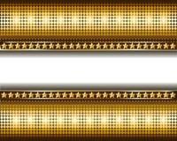 Hintergrund mit Goldkreisen und -sternen Lizenzfreie Stockfotos