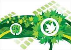 Hintergrund mit grünem Baum Lizenzfreie Stockfotos