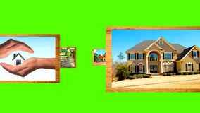 Hintergrund mit grünem Filmwerbungseigentum stock video footage