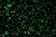 Hintergrund mit grünen Quadraten Stockfoto