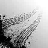 Hintergrund mit Gummireifenspur Lizenzfreie Stockbilder