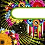 Hintergrund mit hellen Fahnen Stockfotografie