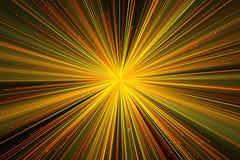 Hintergrund mit hellen Strahlen Stockbild