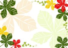 Hintergrund mit Herbstblättern Lizenzfreie Stockfotografie