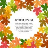 Hintergrund mit Herbstlaub mit einem Platz in der Mitte für Ihren Text Lizenzfreie Stockfotografie