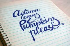 Hintergrund mit Herbsttext Lizenzfreie Stockbilder