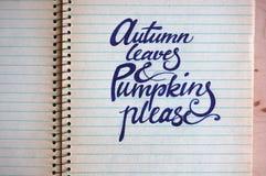 Hintergrund mit Herbsttext Stockbilder