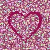 Hintergrund mit Herzen. Stockfoto