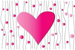 Hintergrund mit Herzen stockbilder
