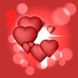 Hintergrund mit Herzen lizenzfreie abbildung