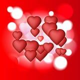 Hintergrund mit Herzen Vektor Abbildung