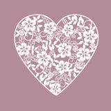 Hintergrund mit Herzen von den Blumen Lizenzfreie Stockbilder
