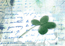 Hintergrund mit Index und Klee stockfotografie