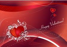 Hintergrund mit Innerem für Valentinsgrußtag Stockbild