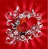 Hintergrund mit Inneren für Valentinsgrußtag Lizenzfreies Stockfoto