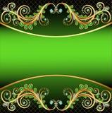Hintergrund mit Juwel- und Verzierungsstreifen für te stock abbildung