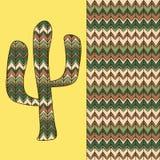 Hintergrund mit Kaktus Stockbilder