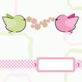 Hintergrund mit Karikaturvögeln. Lizenzfreies Stockfoto