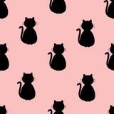 Hintergrund mit Katzen Stockfotografie
