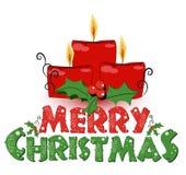 Hintergrund mit Kerze, Weihnachtsabbildung Lizenzfreies Stockfoto