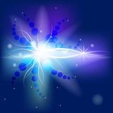 Hintergrund mit leuchtendem Stockfoto