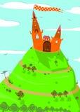 Hintergrund mit Märchenschloss vektor abbildung