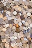 Hintergrund mit Münzen Stockbild