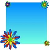 Hintergrund mit mehrfarbigen Blumen. Stockfotografie