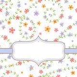 Hintergrund mit mehrfarbigen Blumen Stockfotos