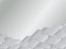 Hintergrund mit metallischen Platten Stockfoto